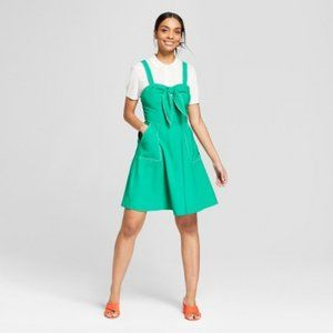 A New Day Green Tie Front Dress With Pockets